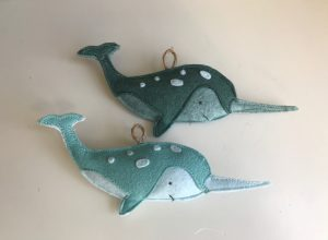 Narwhale Ornament Set