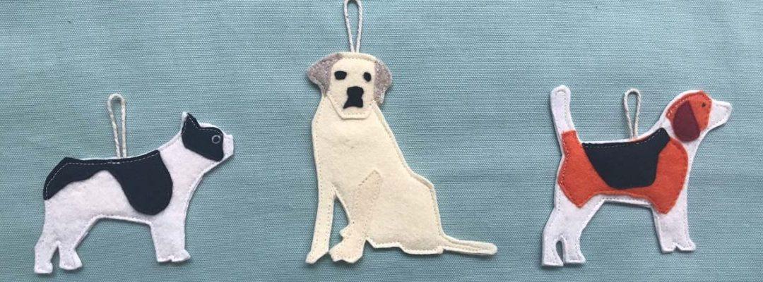 three dog ornament