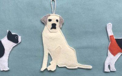 """""""Good Dog"""" Christmas Dog Ornaments Series"""