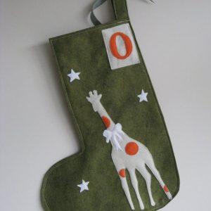 Green Giraffe Stocking