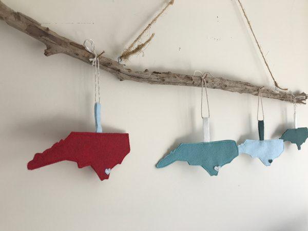 3 North Carolina ornaments