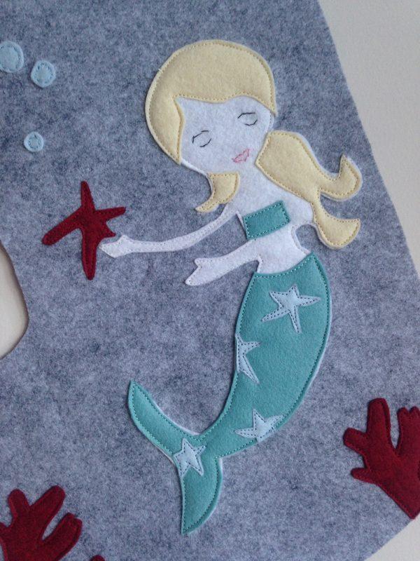 Mermaid Stocking detail