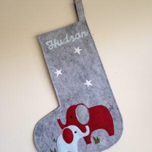 Personalized Elephant Stocking