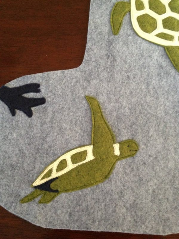 Sea Turtle stocking detail