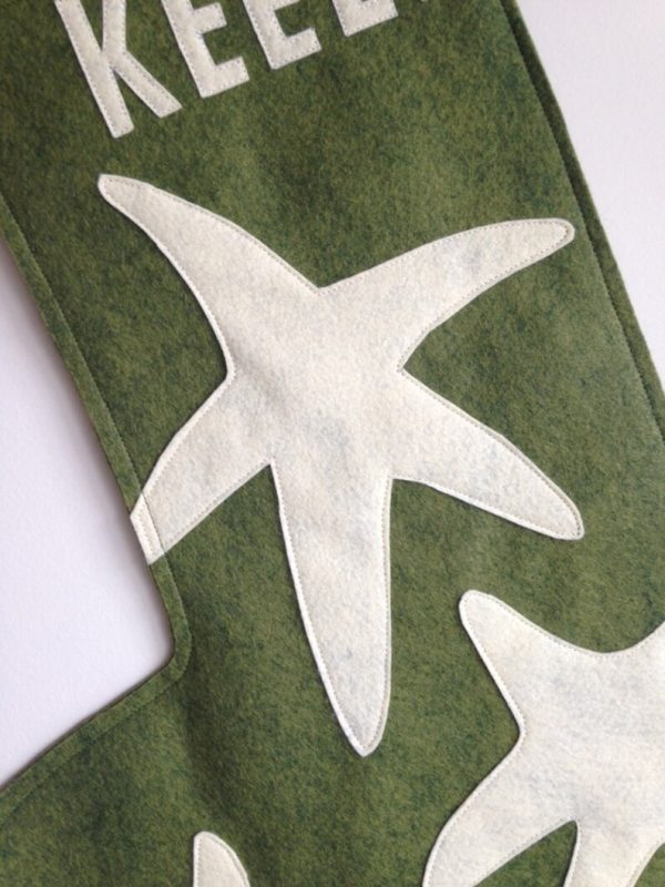 Detail green Starfish Stocking