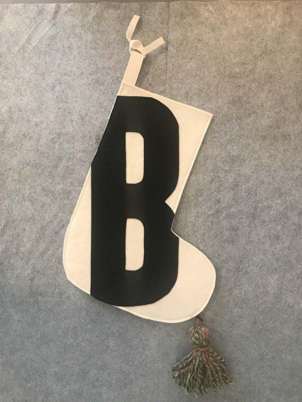 Letter B Stocking