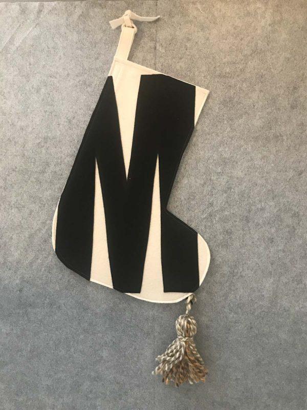 Letter M Stocking