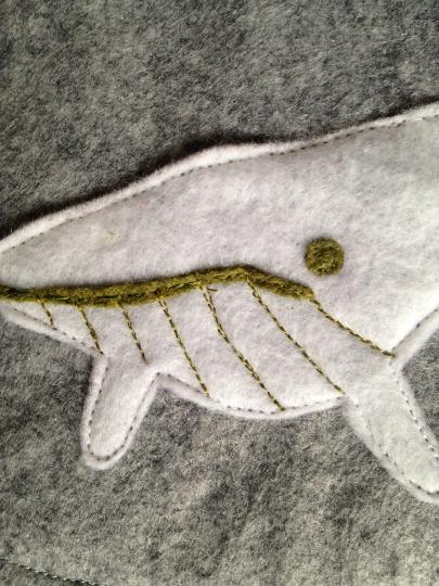 Sea Life Stocking Whale Detail