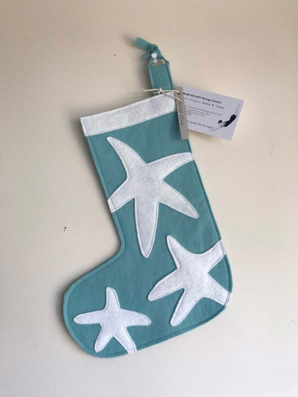 Small Teal Starfish Stocking
