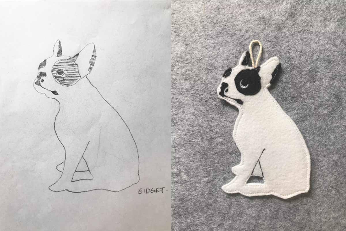 Custom Terrier with Sketch